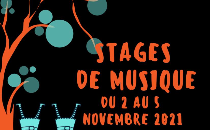 Stages du 2 au 5 novembre 2021