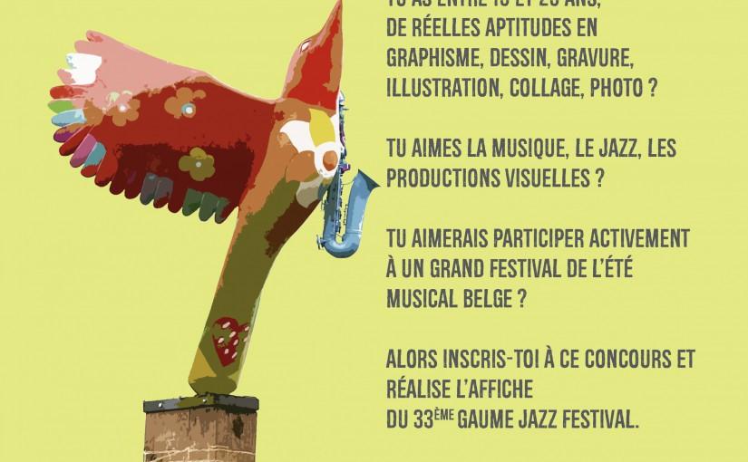 Concours : réalise l'affiche du Gaume Jazz Festival 2017