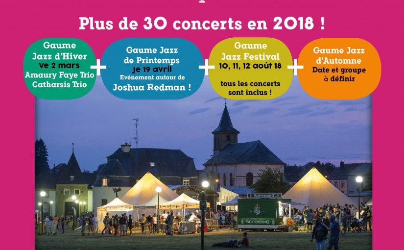 """Carte de membre """"Gaume Jazz 2018"""""""