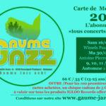 """Carte de membre """"Gaume Jazz 2019"""""""