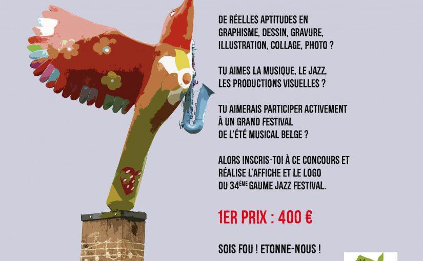 Concours : réalise l'affiche du Gaume Jazz Festival 2018