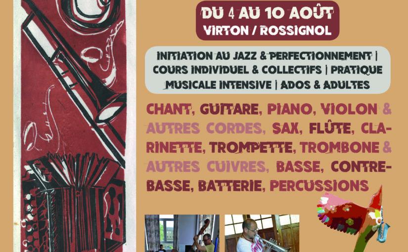 Stage résidentiel de Jazz en Gaume (4-10 août 2019)