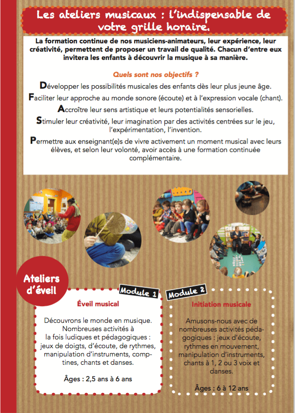 Ateliers scolaires page 1