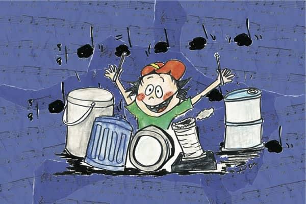"""Stage de juillet à Tournai """"Orchestre de percussions"""". De 6 à 8 ans."""